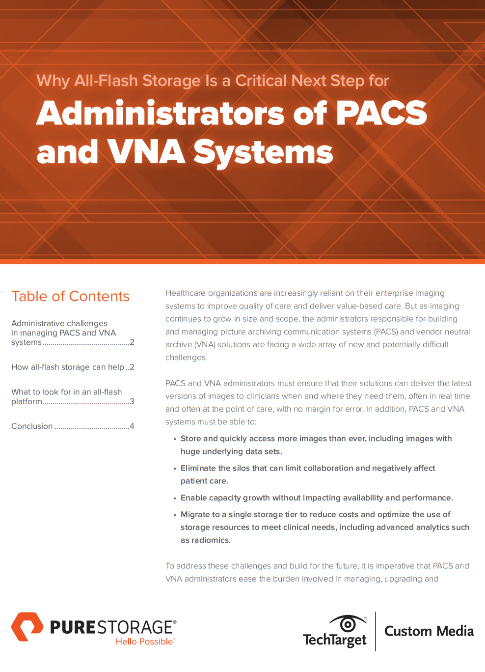 Optimised Data Systems for Administrators of PACS and VNA
