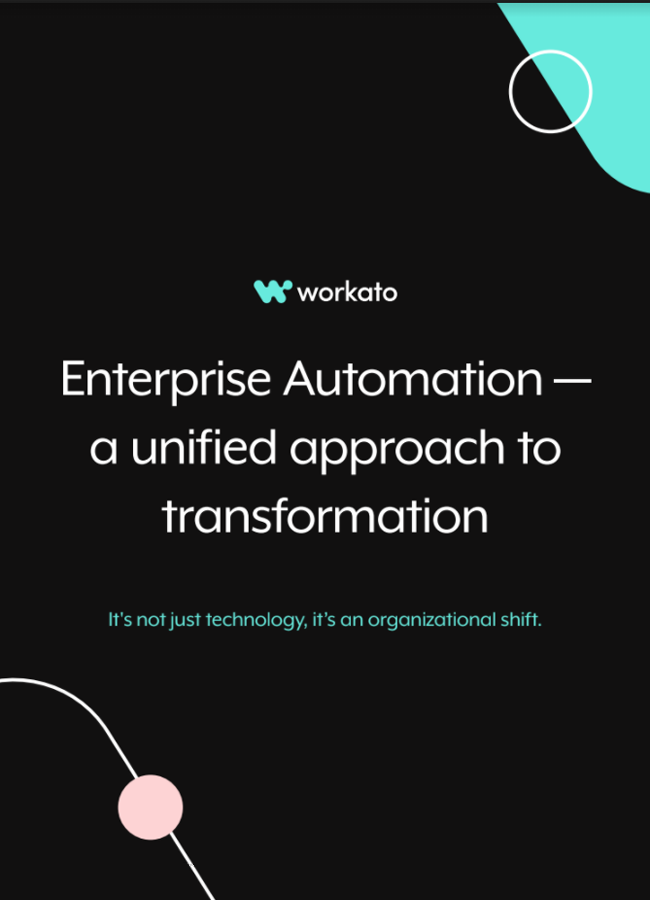 Enterprise Automation — A Unified Approach to Transformation