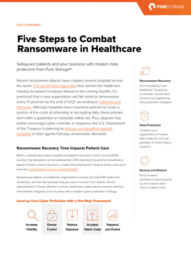 Five Steps to Combat Ransomware in Healthcare